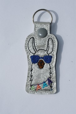 Photo of Llama Key Fob - Blue