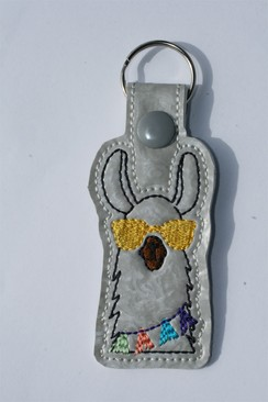Photo of Llama Key Fob - Yellow