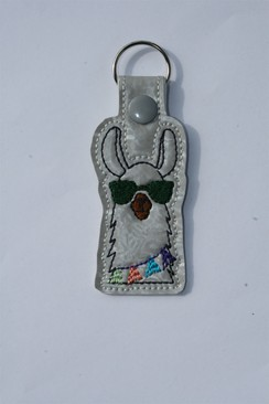 Photo of Llama Key Fob - Green