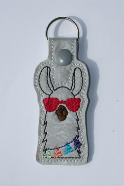 Photo of Llama Key Fob - Red