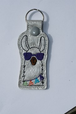 Photo of Llama Key Fob - Purple