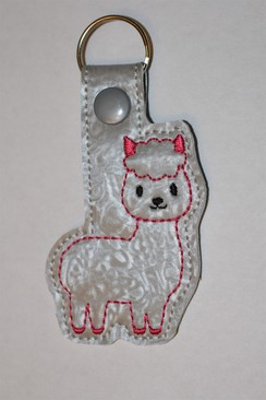 Photo of Alpaca Key Fob - Pink