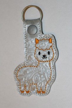 Photo of Alpaca Key Fob - Golden Yellow