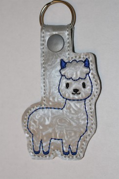 Alpaca Key Fob - Blue