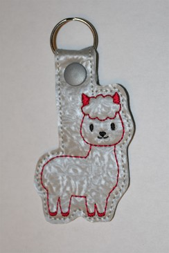 Alpaca Key Fob - Red