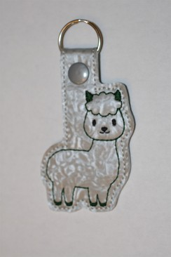 Alpaca Key Fob - Green