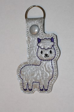 Alpaca Key Fob - Purple