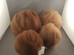 Photo of Alpaca Roving, brown