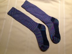 Photo of Striped compression knee socks