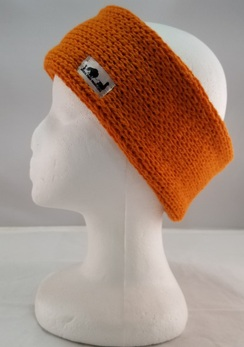 Alpaca Knit Headband (Orange or Black)