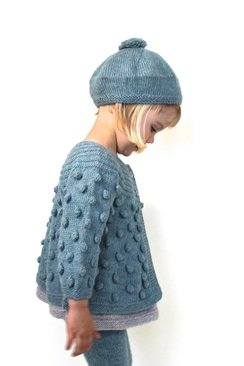 MIOU KIDS Bobble Knitted Cardigan