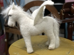 Photo of Felted White Pegasus