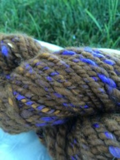 Beautiful soft cria fleece went into this yarn!