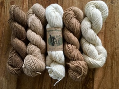 Alpaca yarn in 4 natural colors