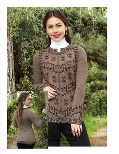 SALE, Brown Zippered Cardigan