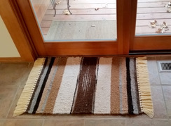 Photo of Alpaca Woven Area Rug Earth Tones 2x3