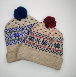 90b5debcf622a Waffle knit beanie hat · Snowflake pompom hat