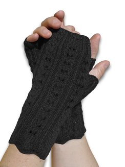 Photo of Hand Knitted Lace Stitch Hand Warmer