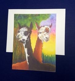 Watercolor portrait notecards