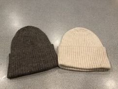 Photo of 100% Alpaca Ribbed Hats from our farm