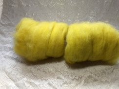 Photo of One ounce hand-dyed batts.