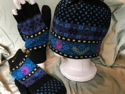 Photo of Lined Hat - Blue Meadow