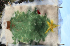 Needle Felted Wall Art Tree