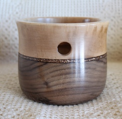 Walnut and Birdseye Maple Yarn Bowl