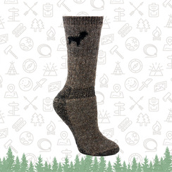 A Pair of Outdoorsman Alpaca Socks