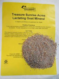 Treasured Sunrise Lactating Goat Mineral