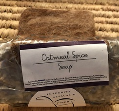 Oatmeal Spice Felted Soap