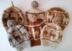 Custom knit Alpaca hat