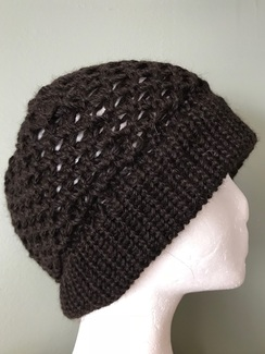 Lacy Hand-knit alpaca Hat