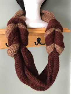 Two-tone Knot infinity scarf