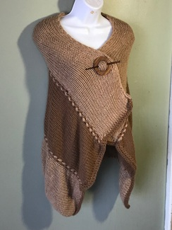 Two-tone Double Knit Alpaca Shawl