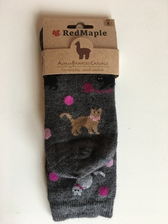 Photo of Alpaca Bamboo Cat Socks (RM)