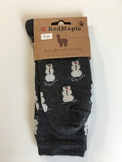 Photo of Alpaca Bamboo Snowmen Socks (RM)
