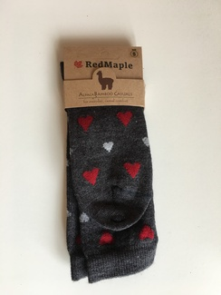 Photo of Alpaca Bamboo Heart Socks (RM)