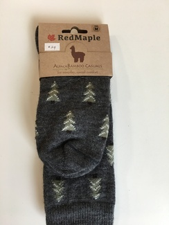 Photo of Alpaca Bamboo Evergree Tree Socks (RM)