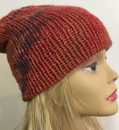 Photo of Coral/ Multicolor Double Knited Hat