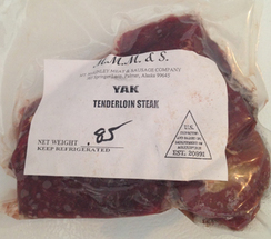 Yak Tenderloin Steak - single