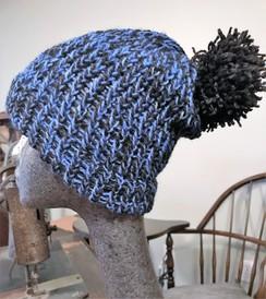 Blue watchman's cap