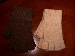 Fingerless Alpaca Texting Gloves