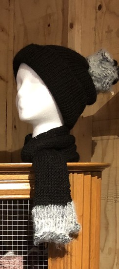 Farm made Alpaca Hat and Scarf set