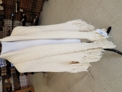 White alpaca shawl