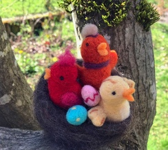 Photo of Needle Felted Bird in a Nest