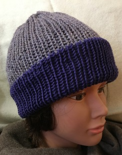Reversible Knit Hat, Alpaca & Merino
