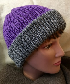 Reversible Knit Hat (2), Alpaca & Merino