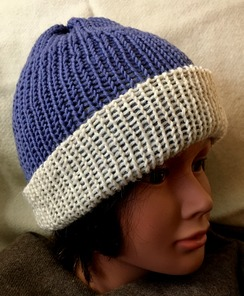 Reversible Knit Hat (4), Alpaca & Merino