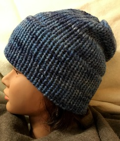 Photo of Chunky Hand Dyed Alpaca/Wool Hat (2)